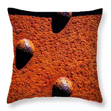 Wet Rivets  Throw Pillow by Bob Orsillo