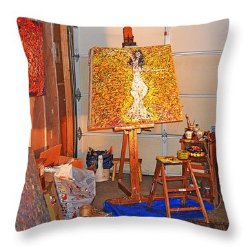 Wetmore Avenue Studio  Throw Pillow by Tobeimean Peter