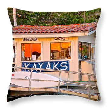 Wetspot Kayak Shack Throw Pillow