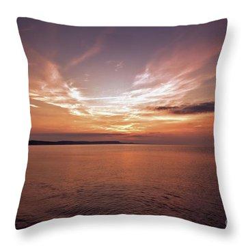 Weymoth Morning Glory Throw Pillow by Baggieoldboy