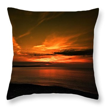 Weymouth  Golden Sunrise Throw Pillow