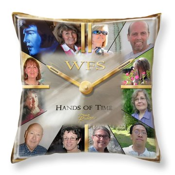 Wfs Hands Of Time Throw Pillow by Doug Kreuger