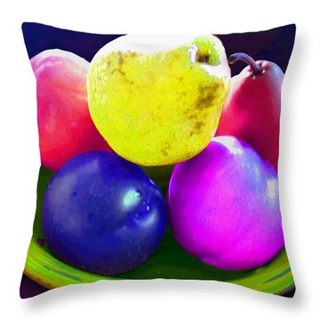 Whadda Pear Exclamation Point Throw Pillow by Ginny Schmidt