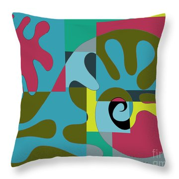 Whale In The Melted Sea.  Throw Pillow by Cathy Peterson