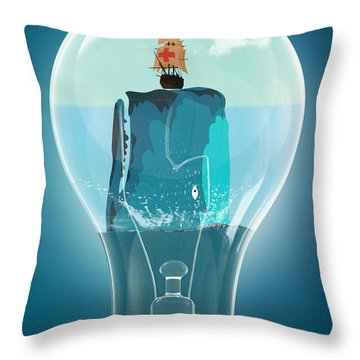 Whale Lights  Throw Pillow by Mark Ashkenazi