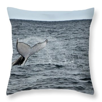 Throw Pillow featuring the photograph Whale Of A Time by Miroslava Jurcik