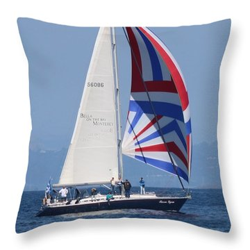 Whale Watching 1 Throw Pillow