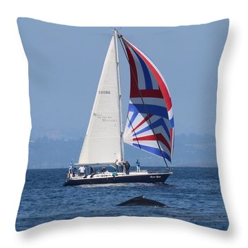 Whale Watching 2  Throw Pillow