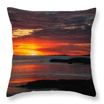 Whaleback Lighthouse Throw Pillow by Scott Thorp
