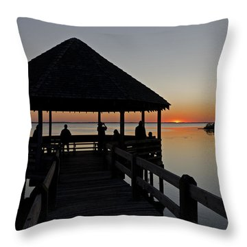 Throw Pillow featuring the photograph Whalehead Sunset Obx by Greg Reed