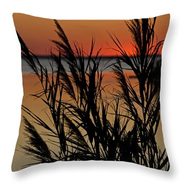 Whalehead Sunset Obx II Throw Pillow