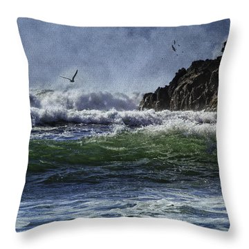 Whales Head Beach Southern Oregon Coast Throw Pillow