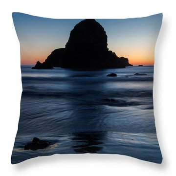 Whaleshead Beach Sunset Throw Pillow