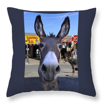 What . . . No Carrots Throw Pillow by Mike McGlothlen