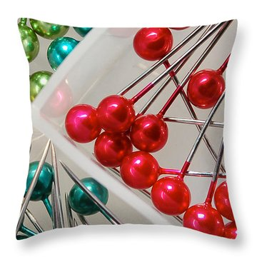 Throw Pillow featuring the digital art What A Buncha Pinheads by Margie Chapman