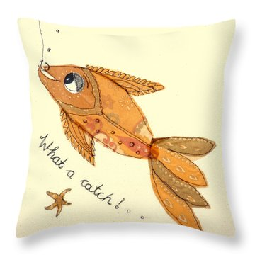 What A Catch Throw Pillow