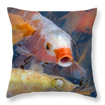 What A Crowd Throw Pillow by Laurel Powell