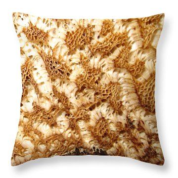 Throw Pillow featuring the photograph What A Fungus by Mary Bedy