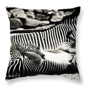 What A Wonderful Life Throw Pillow by Jenny Rainbow