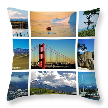 My Wonderful World ... Throw Pillow