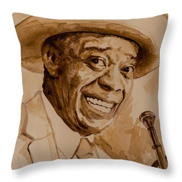 Throw Pillow featuring the painting What A Wonderful World by Laur Iduc