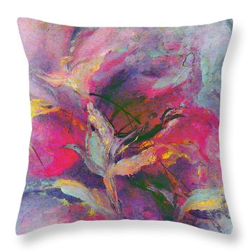 Throw Pillow featuring the painting What Do You See by Lisa Kaiser
