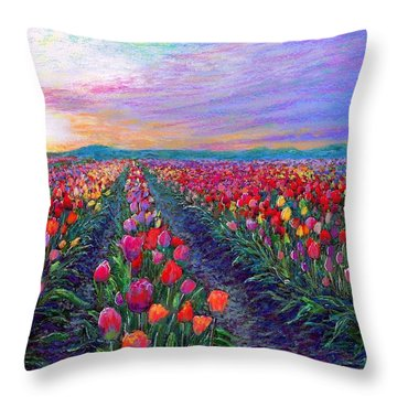 Tulip Fields, What Dreams May Come Throw Pillow
