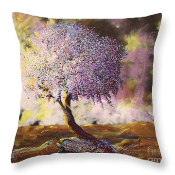 What Dreams May Come Spirit Tree Throw Pillow