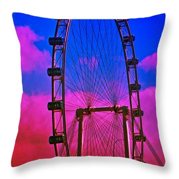 Throw Pillow featuring the photograph What Goes Around... by Joseph Hollingsworth