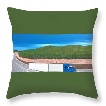 Throw Pillow featuring the painting What Happened To My Homeland by Tim Mullaney