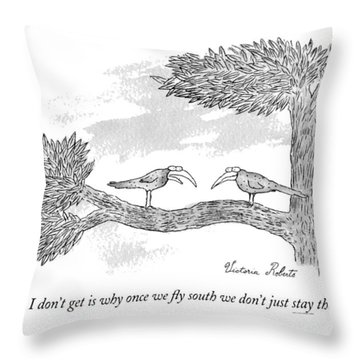 Once We Fly South Throw Pillow