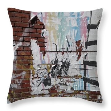What If Art Ruled The World? Throw Pillow by Lesley Fletcher