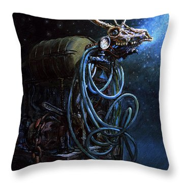 What If... Throw Pillow by Frank Robert Dixon