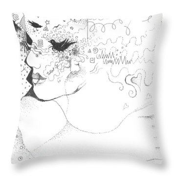 What If... Throw Pillow by Helena Tiainen
