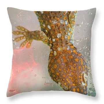 What If Tom Cruise Was A Gecko Throw Pillow