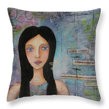 What Is A Friend # 2 Throw Pillow