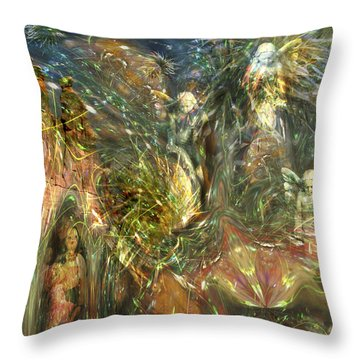 What Is Behind That Curtain? Throw Pillow
