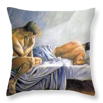 What Is He Dreaming Throw Pillow