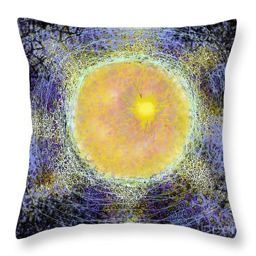 What Kind Of Sun V Throw Pillow by Carol Jacobs