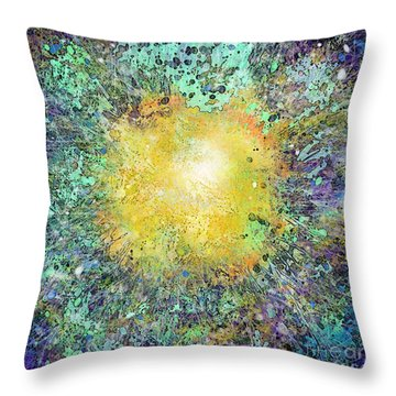 What Kind Of Sun Vii Throw Pillow by Carol Jacobs