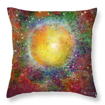 What Kind Of Sun Viii Throw Pillow by Carol Jacobs