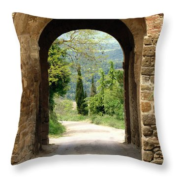 What Lies Ahead Throw Pillow by Ellen Henneke