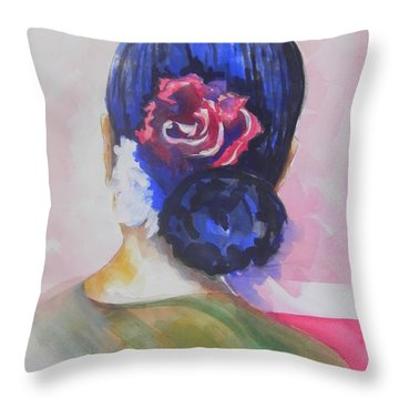What Lies Ahead Series.. Watching Time Go By Throw Pillow by Chrisann Ellis