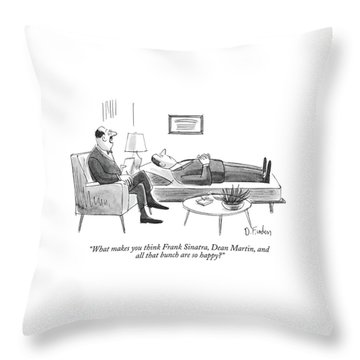 What Makes You Think Frank Sinatra Throw Pillow