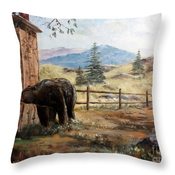 Throw Pillow featuring the painting What Now by Lee Piper