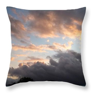 What Remains Of Day Throw Pillow by Glenn McCarthy Art and Photography