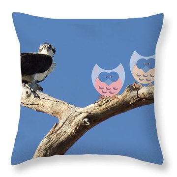 Throw Pillow featuring the photograph What? by Rosalie Scanlon