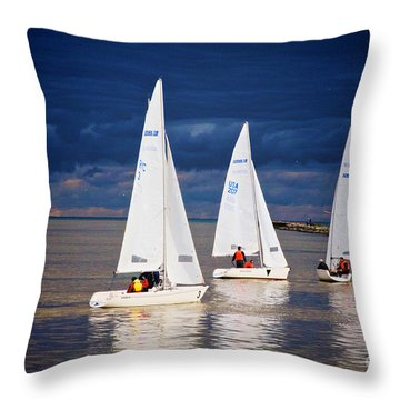 Throw Pillow featuring the photograph What Storm by William Norton