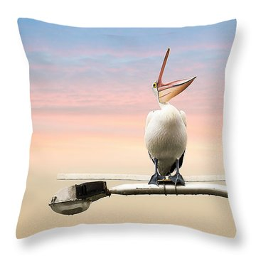 What The Hell 001 Throw Pillow by Kevin Chippindall