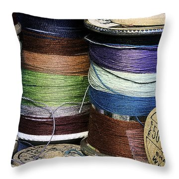 Spools Of Thread Throw Pillow